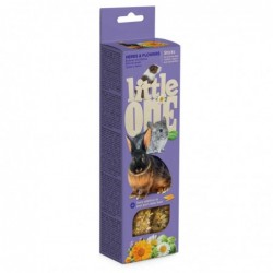 Snack Roedores Hierbas y Flores 2 sticks x 55 gr. Little One