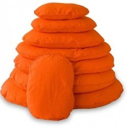 Cama Perro Ovalada Naranja 80cm Lex&Max