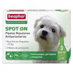 Pipetas Antiparasitarias Perro Pequeño 3x1ml Beaphar