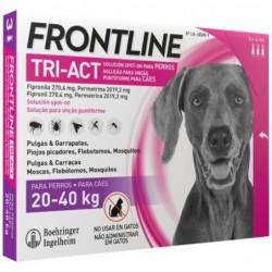 Pipetas Antiparasitarias Perro 20-40kg 3x4ml Tri-act Frontline