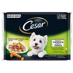 Pienso Húmedo Perro Multipack Selección en gelatina Cesar