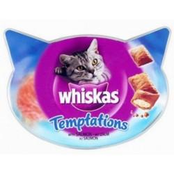 Whiskas Temptations Salmón 1x60gr. Caducidad 19/03/2022
