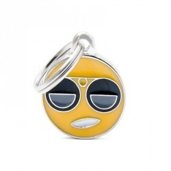Chapa Identificativa Emoticono Gafas de Sol My Family