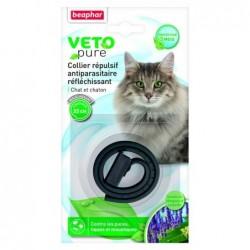 Collar Antiparasitario Gato Margosa Negro Reflectante Beaphar
