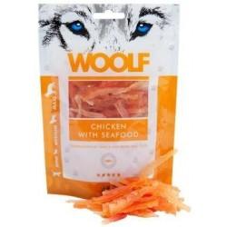 Snack Perro y Gato Pollo y Marisco 100gr Woolf