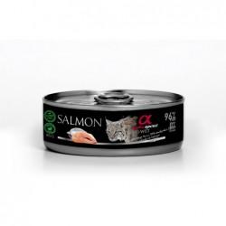 Pienso Húmedo Gato Salmón 1x85gr Alpha Spirit