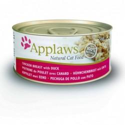 Pienso gato Kitten lata Pollo y Pato 70 gr. Applaws